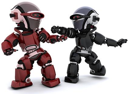 Chatbot Battles Robots Fighting