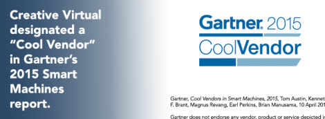 Creative Virtual Cool Vendor Gartner 2015