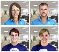 O2 Live Chat Avatars