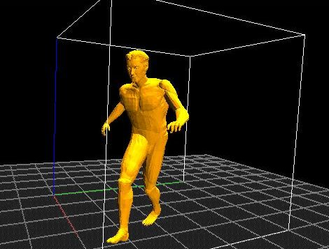An example of a 3D human motion modelling system