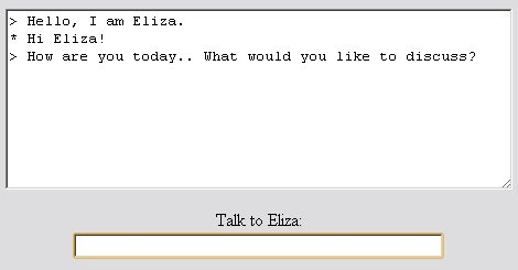 ELIZA - the first prototype of a Chatterbot